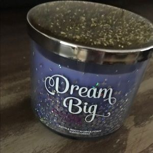 Dream Big sparkly candle